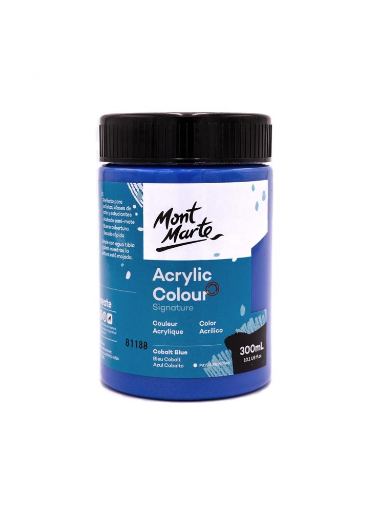 MONT MARTE Studio Acrylic Paint 300ml - Cobalt Blue