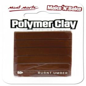 MONT MARTE  Make n Bake Polymer Clay - Burnt Umber