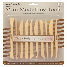 MONT MARTE Mini Modelling Tools Boxwood 10pc