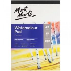 MONT MARTE Watercolour Pad German Paper A5 180gsm 15sht