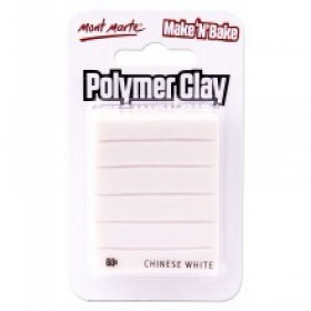 MONT MARTE  Make n Bake Polymer Clay - Chinese White