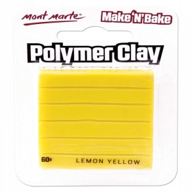 MONT MARTE  Make n Bake Polymer Clay - Lemon Yellow
