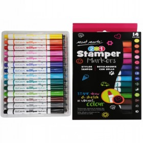 MONT MARTE 2 in 1 Stamper Markers 14pc