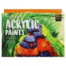 MONT MARTE Acrylic Paints 24pc x 12ml