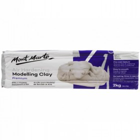 MONT MARTE Air Hardening Modelling Clay - White 2kgs