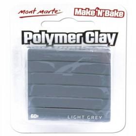 MONT MARTE Make n Bake Polymer Clay 60g - Light Grey