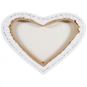 MONT MARTE Canvas Heart Shaped 30x30cm