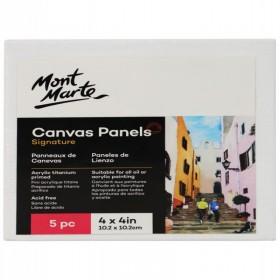 MONT MARTE Canvas Panels Pack 5 10.2x10.2cm