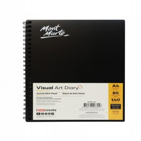 MONT MARTE Visual Art Diary Black 140gsm A4 80page