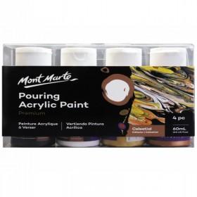 MONT MARTE Pouring Acrylic 60ml 4pc - Celestial