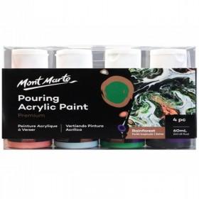 MONT MARTE Pouring Acrylic 60ml 4pc - Rainforest