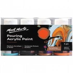 MONT MARTE Pouring Acrylic 60ml 4pc - Symphony