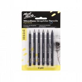 MONT MARTE Woodless Graphite Pencils 6pc