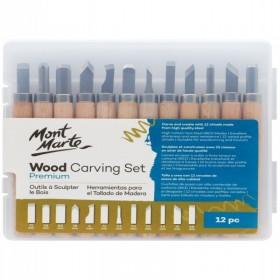 MONT MARTE Wood Carving Set 12pc