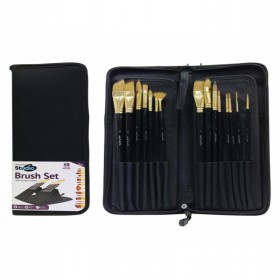 MONT MARTE Studio Brush Set in Easel Wallet 15pc