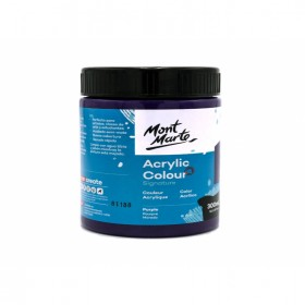 MONT MARTE Studio Acrylic Paint 300ml - Purple