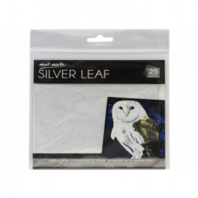MONT MARTE Imitation Silver Leaf 14x14cm 25 sheets