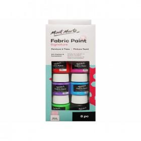 MONT MARTE Fabric Paint Set 8pc x 20ml