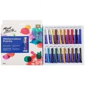 MONT MARTE Watercolour Paints 18pc x 8ml