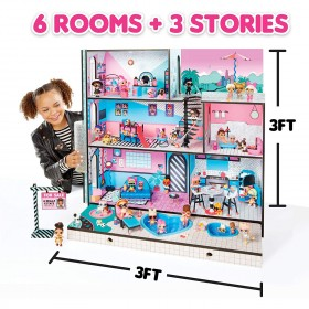 LOL SURPRISE DOLL HOUSE WITH NEW FAMILY