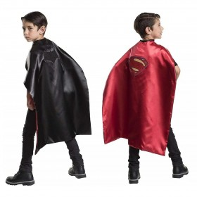 BATMAN / SUPERMAN 2 IN 1 REVERSIBLE CAPE