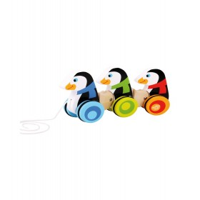 PULL ALONG - PENGUINS TOOKY TOY