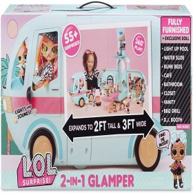 LOL Surprise 2-in-1 Glamper Fashion Camper with 55+ Surprises