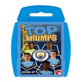 TOP TRUMPS MANCHESTER CITY PLAYING CARD