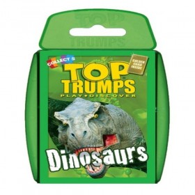 TOP TRUMPS DINOSAURS PLAYING CARD