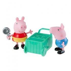 Zoofy International Peppa Pig - Peppa & George Ice Cream Time Play Set: Toys & Games