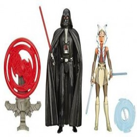 Star Wars Rebels 3.75-Inch Figure 2-Pack Space Mission Darth Vader and Ahsoka Tano: Toys & Games