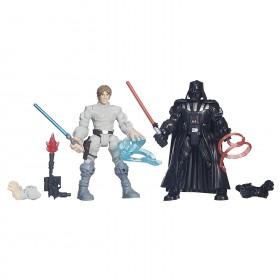 Star Wars Hero Mashers Luke Skywalker vs. Darth Vader: Toys & Games