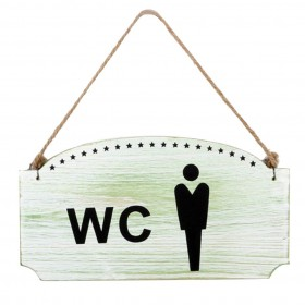 """SIGNS """"WC GENTS"""""""