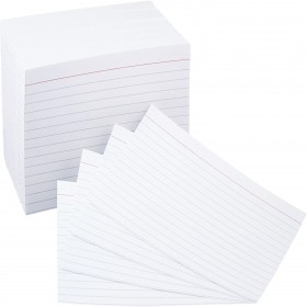 6INCH X 4INCH RULED RECORD CARDS - ASST