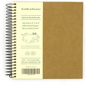 A6 SPIRAL CARD COVER RULED METALLIC JOTT