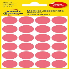MARKING DOTS SMALL STICKER 18 MM RED