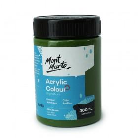 MONT MARTE Studio Acrylic Paint 300ml - Olive Green