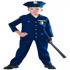 POLICE MAN CHILD COSTUME LARGE