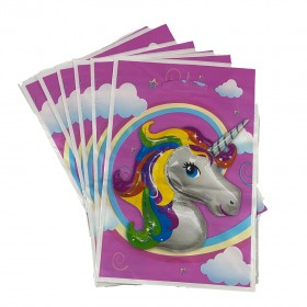 6 Pcs Unicorn Party Bags, Plastic Party Candy Bags, Unicorn Party Supplies,Treat Bags