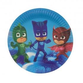 10/Pcs PJ Masks 7 inch Plates for kids party, Party favors, Unique Design