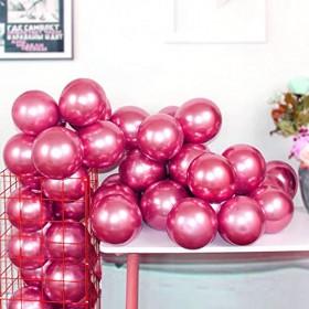 Metallic Chrome Latex Balloons 12 Inch 50 Pcs Happy Birthday Baby Showers one-size Pink