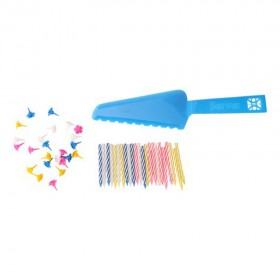 1/pc Birthday Candles Set with Plastic knife Perfect for Birthday Party Pink and Blue Color