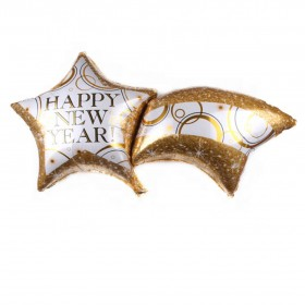 41 inches New Year theme Gold Shooting star New Year party decorations aluminum foil balloon