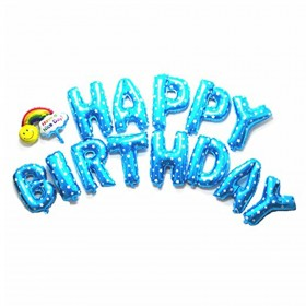 """Mcolour Balloon Blue """"HAPPY BIRTHDAY"""" Helium Foil Balloons for Party Supply"""