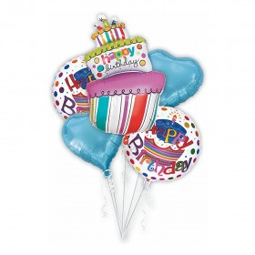 Mcolour Balloon Birthday Cake Balloons 5 Piece Combination 40 Inch Candles Party Decoration Foil Balloons