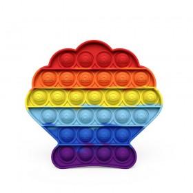 Push Pop Bubble Pop It Fidget Toy Clam Seashell with Embossed Logo