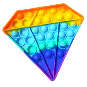 Push Pop it Bubble Fidget Rainbow Diamond