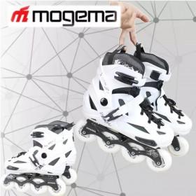 Mogema M9 in-line roller skates Rockered (SIZE EURO 35-39, US 3-6 WHITE WHEELS)