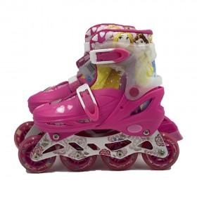 Mesuca Disney Princess Children's Inline  Roller Skates Set, Size EURO 30-33