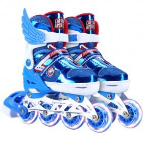 Marvel Captain America Inline Roller Skates Set, Size EURO 31-34